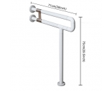 IBAMA Toilet Grab Bar, Safety 28-inch R Shape Frame Shower Rail for Disability Aid and Seniors on Home Bathroom and Hotel(Stainless Steel Coated With White Nylon)
