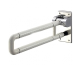 IBAMA Toilet Grab Bar, Safety 28-inch U Shape Frame Shower Rail for Disability Aid and Seniors on Home Bathroom and Hotel(Stainless Steel Coated with White Nylon)