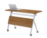 IBAMA Office Foldable Conference Training Table Desk 47.24x29.52 Inches with Wheels Casters for Home Work, Study